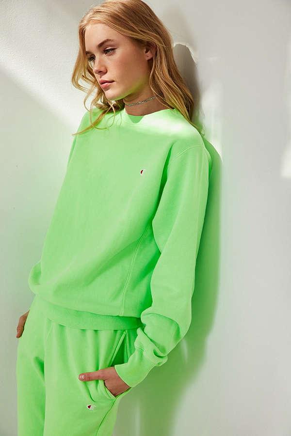 Champion UO Neon Green Hoodie Sweatshirt.jpg