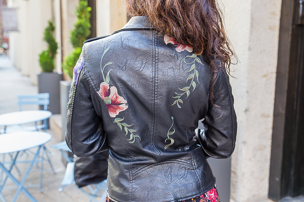 Embroidered Moto Jacket Detail