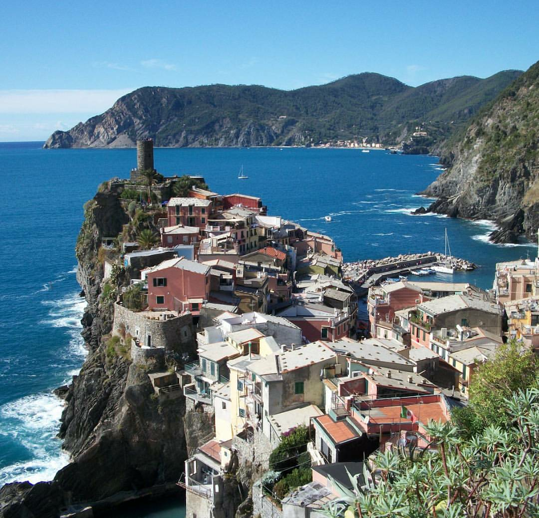 The end of a hike through Cinque Terre