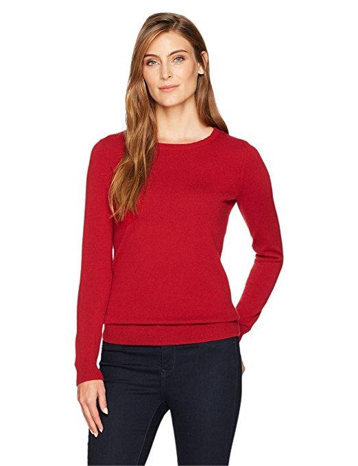 Amazon Fashion Red Cashmere Sweater.jpg