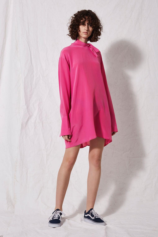 SIlk High Neck Dress.jpg
