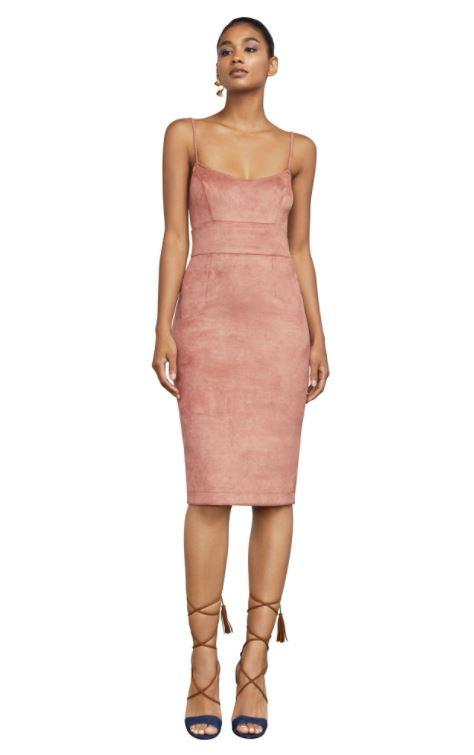 Faux Suede Blush Dress.JPG
