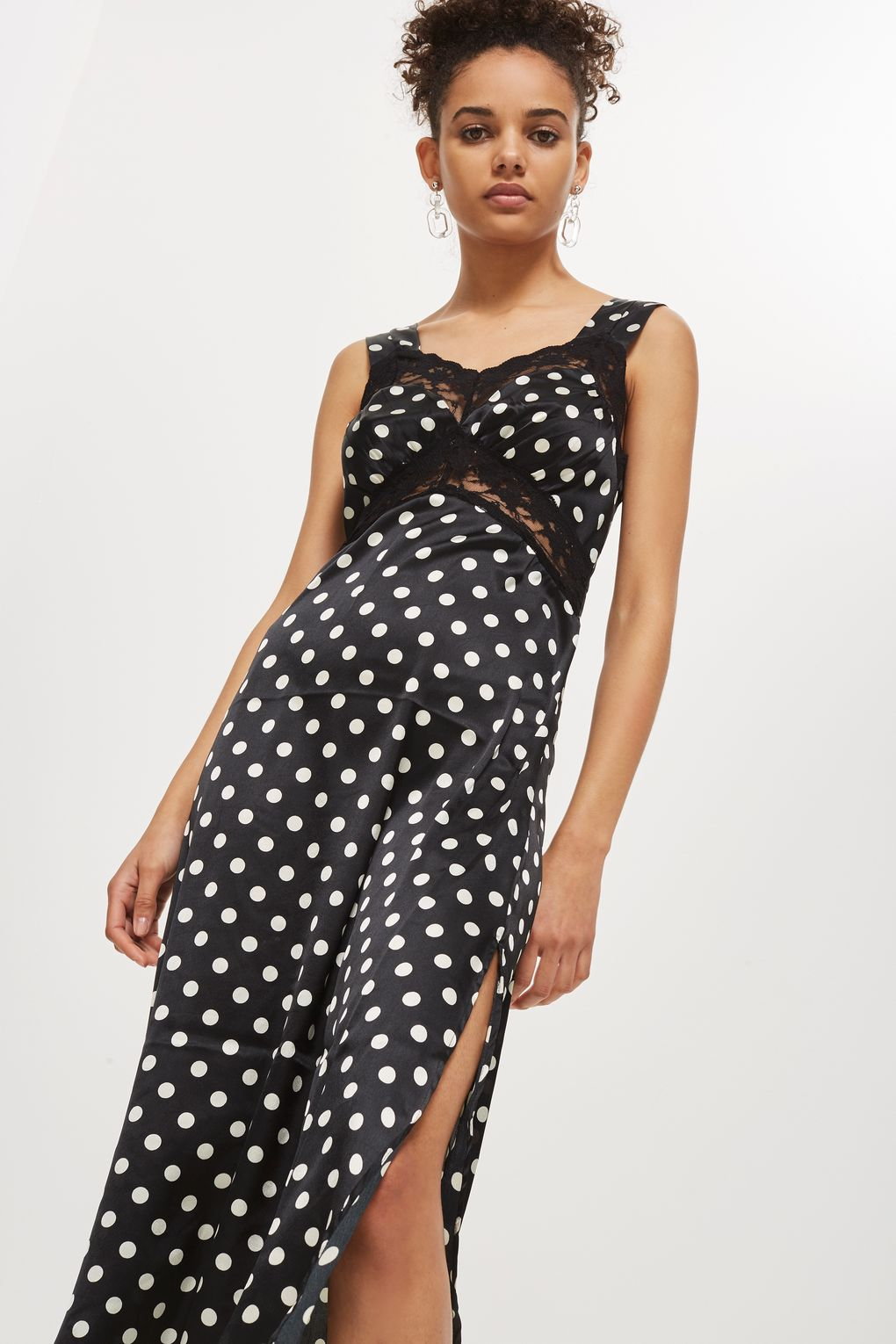 Topshop Polka Dot Satin Slip Dress.jpg