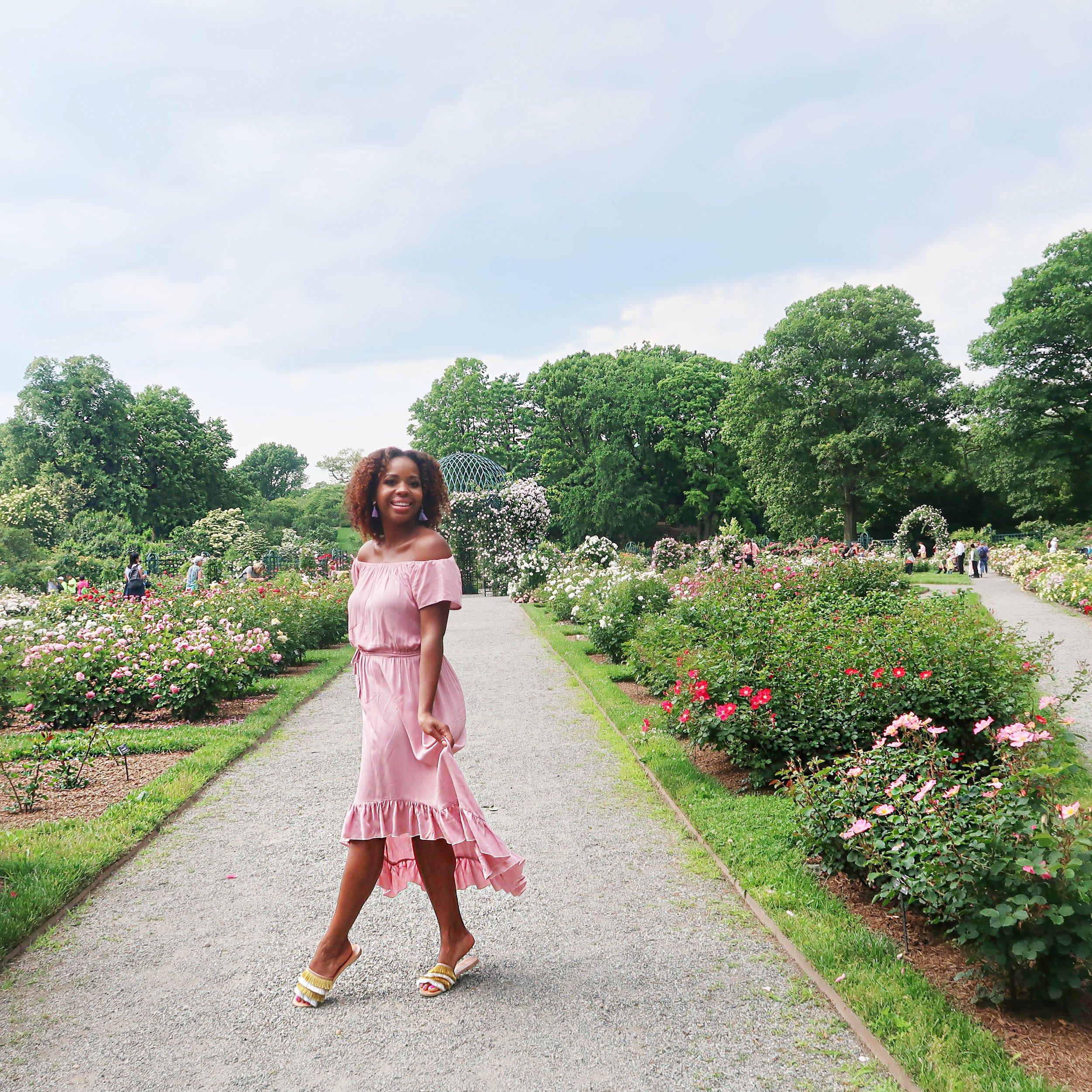 Rose garden summer style
