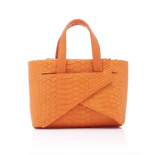 orange snakekin tote.JPG