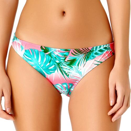 Palm Leaf Print Hipster Bikini Bottoms.jpg