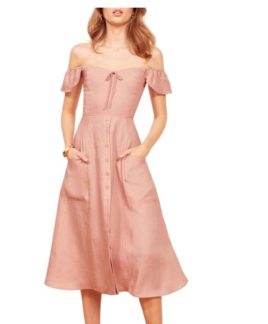 Reformation Linen Maxi Dress