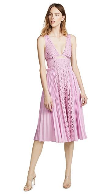 Self-Portrait Lilac Midi Dress.jpg