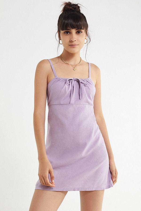 Urban Outfitters Linen Purple Midi Dress.jpg