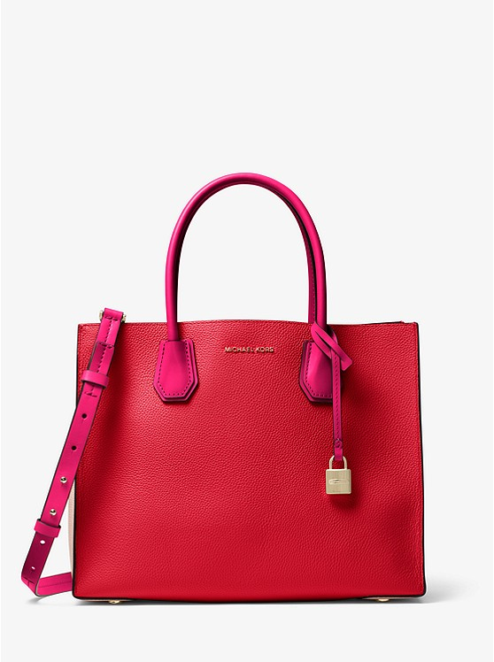 Michael Kors Red Leather Tote.jpg