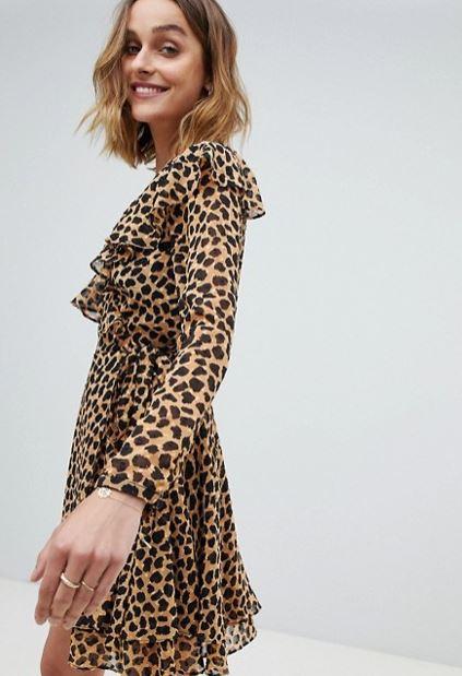 Asos Leopard Print Wrap Dress.JPG