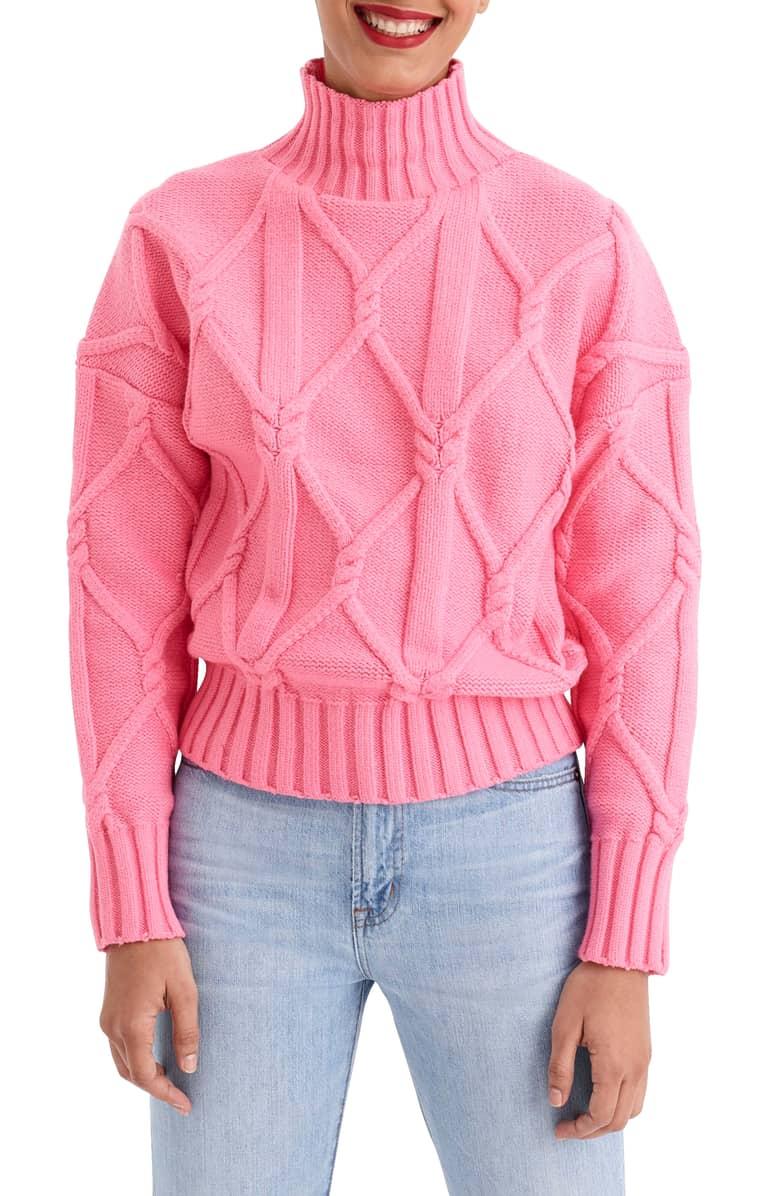 J Crew Pink Knit Sweater.jpeg