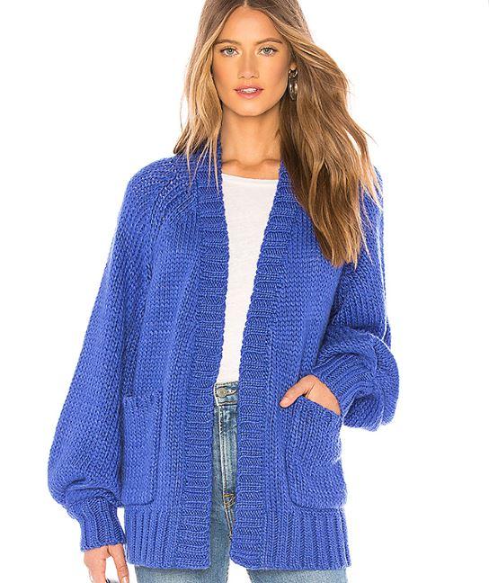 Revolve Blue Knit Cardigan.JPG