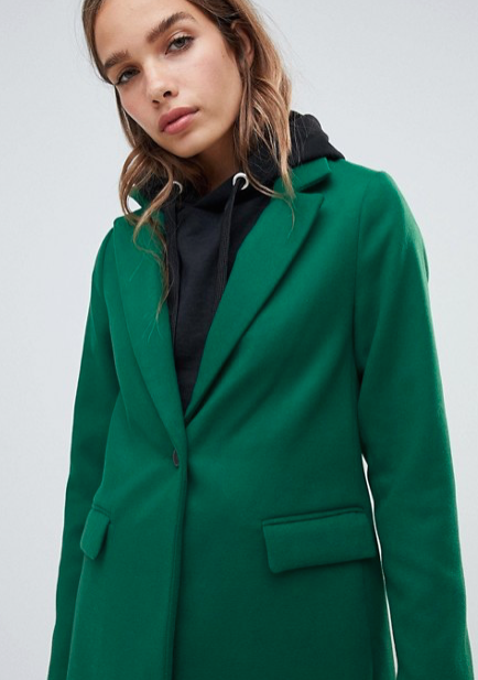 NEW LOOK TAILORED COAT IN GREEN