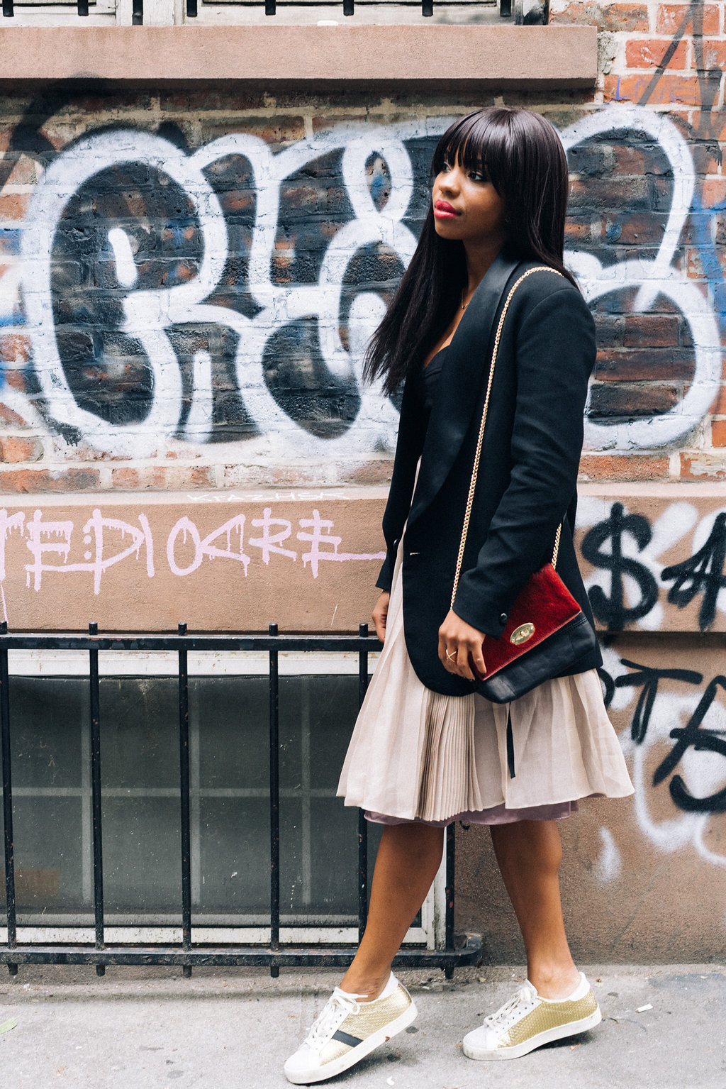 Pink Tulle Skirt and Black Blazer