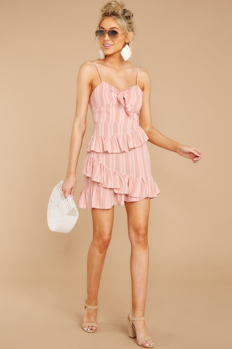 Don't Say No Mauve Pink Stripe Dress.jpg