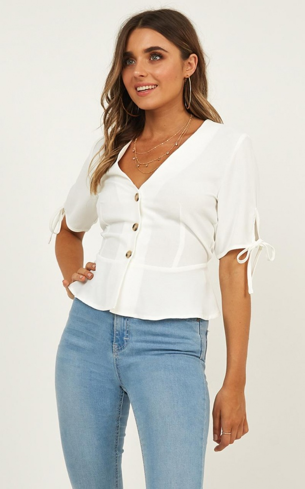 ShowPo LAST RESORT TOP IN WHITE