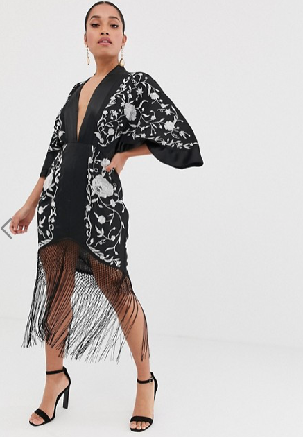 ASOS DESIGN PETITE KIMONO MINI DRESS