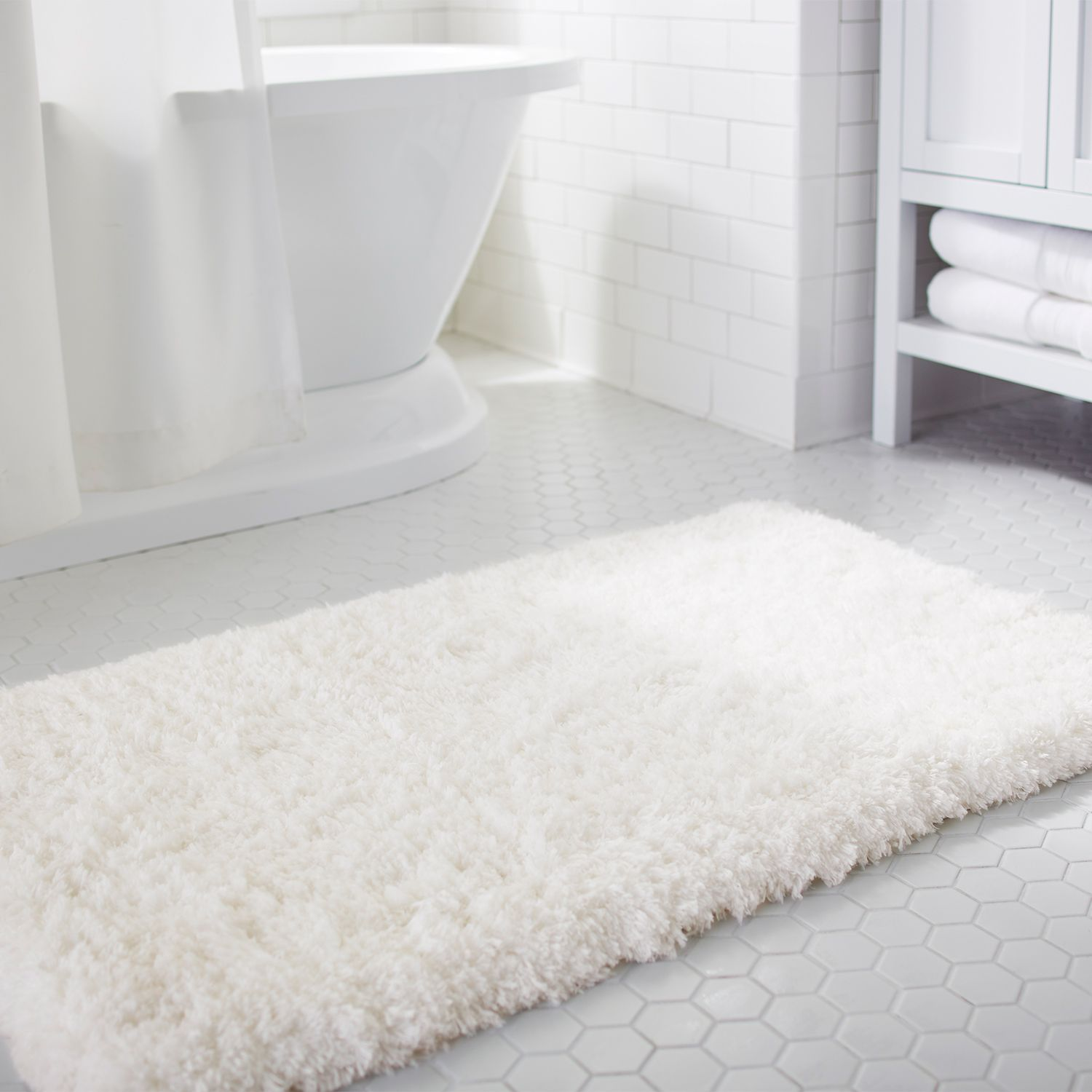 CLOUD STEP® MEMORY FOAM IVORY BATH RUG