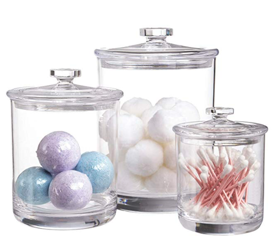 Premium Quality Clear Plastic Apothecary Jars