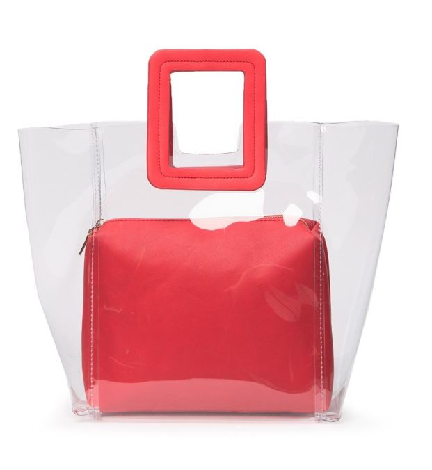 URBAN EXPRESSIONSCLEAR SQUARE HANDLE TOTE