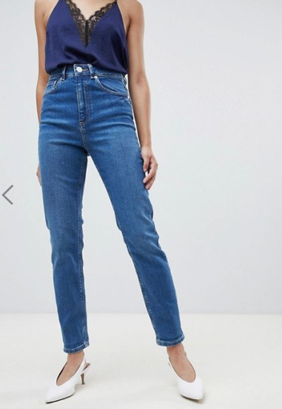 ASOS DESIGN FARLEIGH HIGH WAIST SLIM MOM JEANS