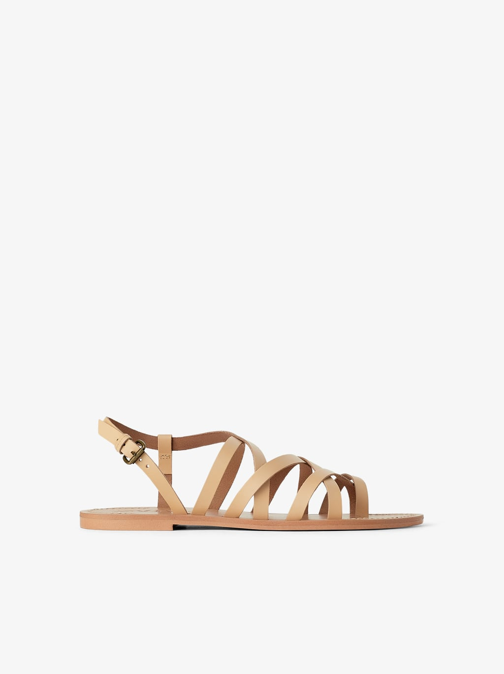 Zara Leather Flat Strap Sandals.jpg