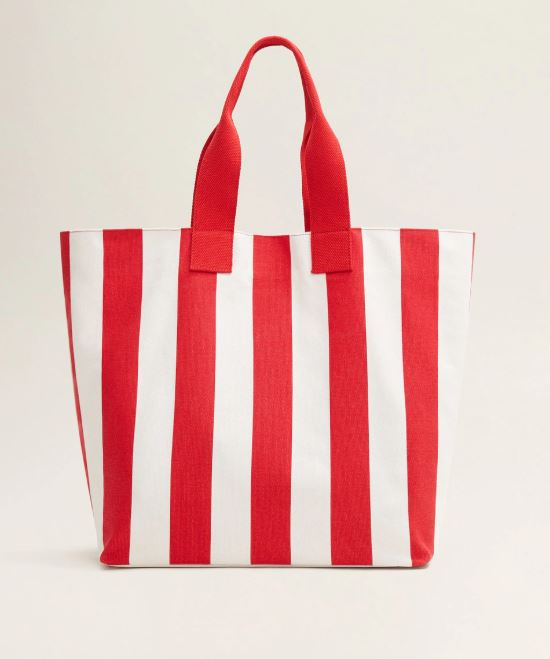 Mango Striped Shopper Bag.JPG