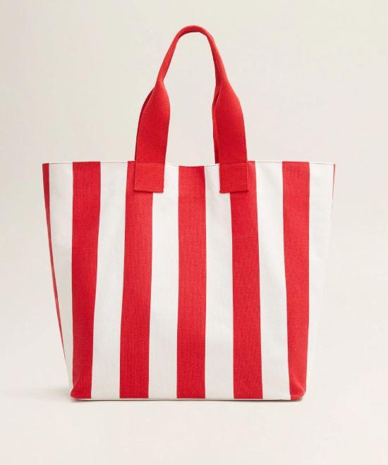 Mango Striped Shopper Bag.JPG