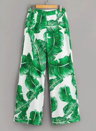 tropical print palm tree pants.JPG