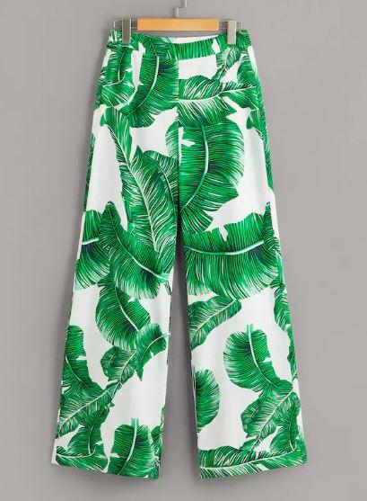 tropical print palm tree pants.JPG