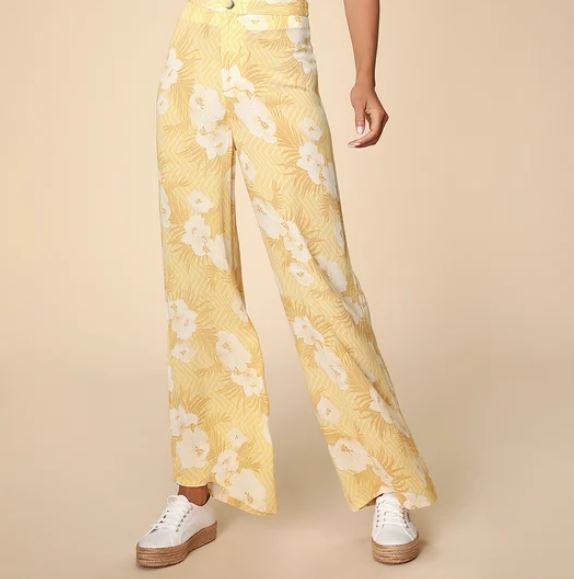 lulus floral print high waisted pants.JPG