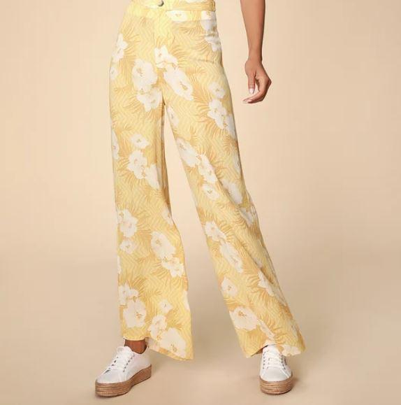 lulus floral print high waisted pants.JPG
