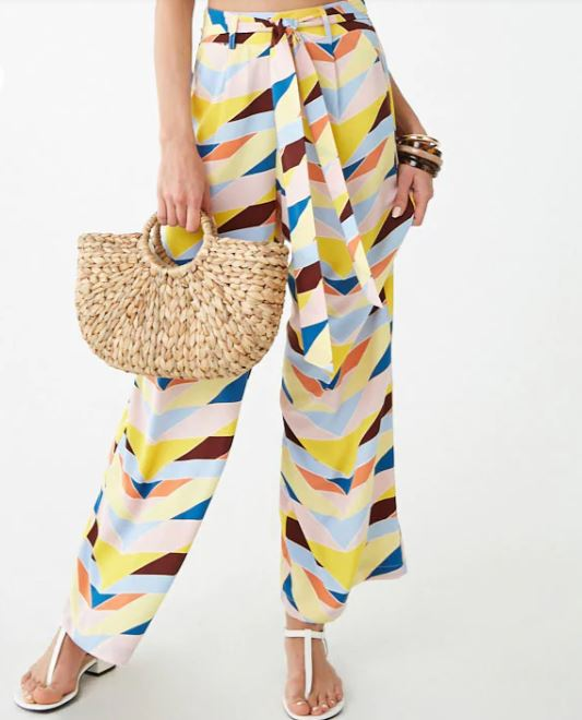forever21 graphic print pants.JPG