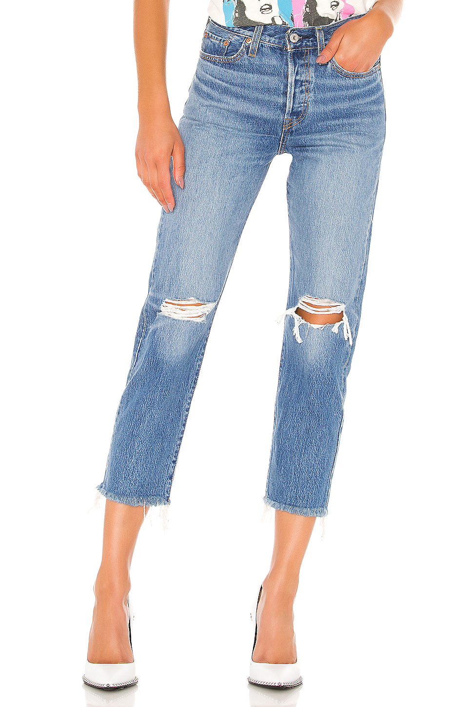 Levi's Straight Leg Distressed Jeans.jpg