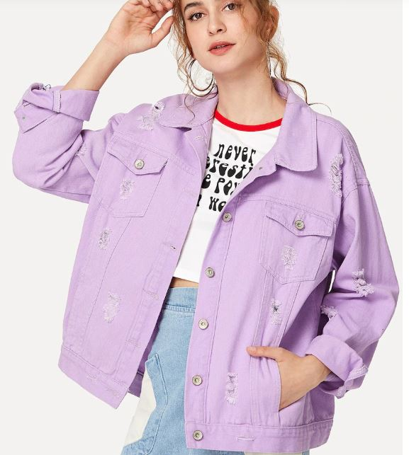 Shein Lilac Denim Jacket.JPG