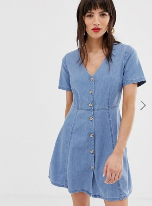 Asos Chambray Button Front Shirt Dress.JPG