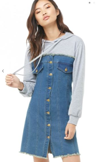 Forever21 Denim Hoodie Dress.JPG