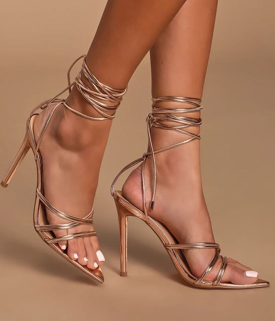 lulus lace pointed lace up heels.JPG