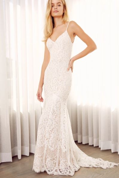 Flynn White Lace Maxi Dress Lulus Weddings.JPG