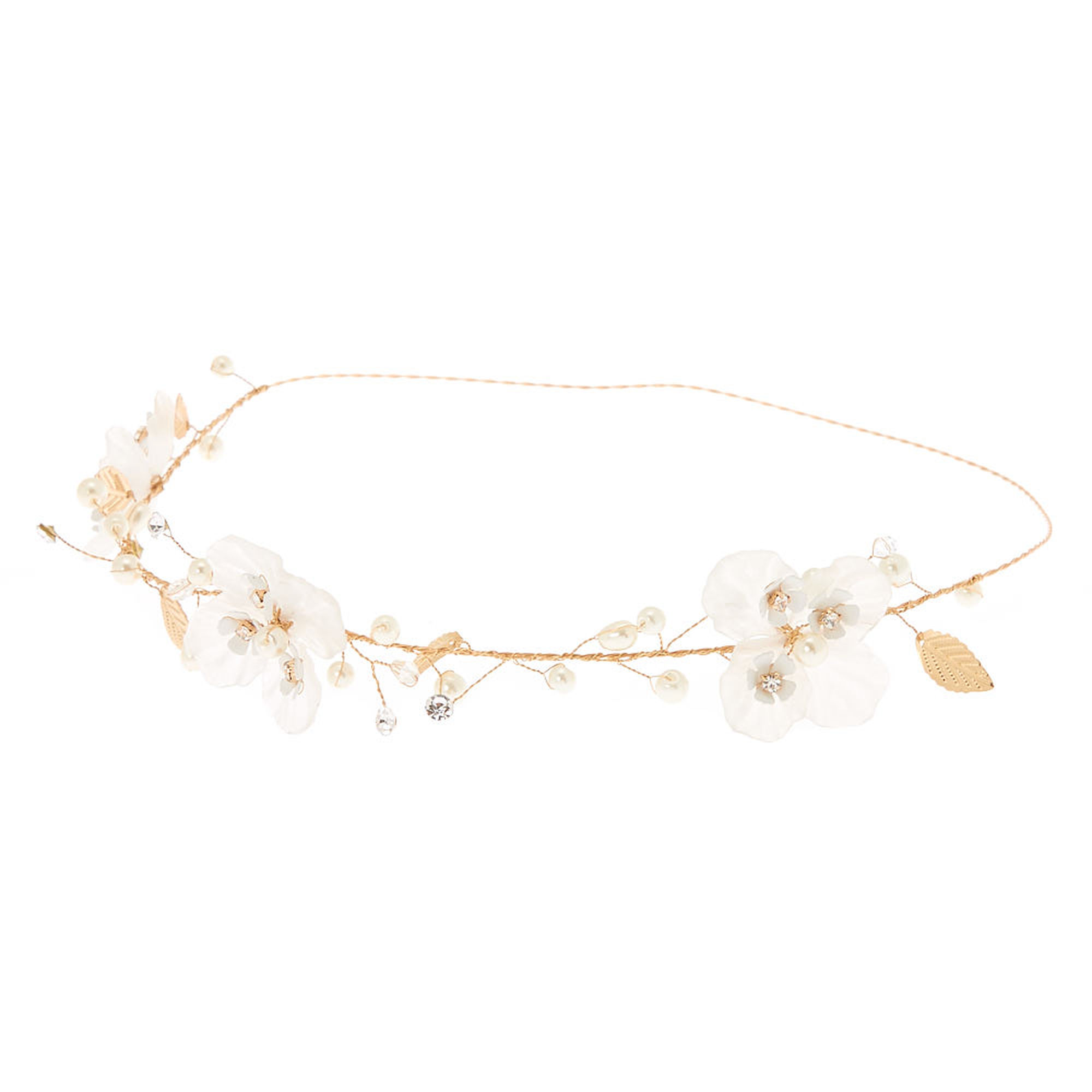 Pearl and Gold Flower Headband.jpg