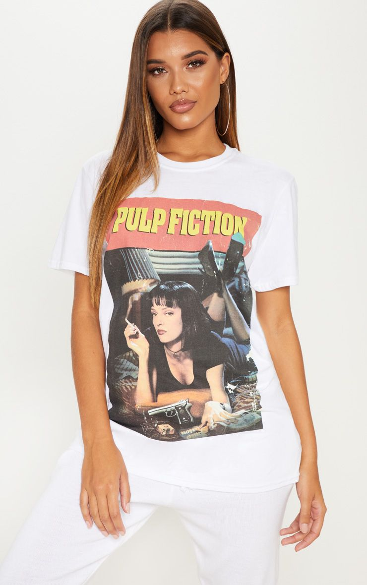 White Pulp Fiction Slogan T-Shirt.jpg