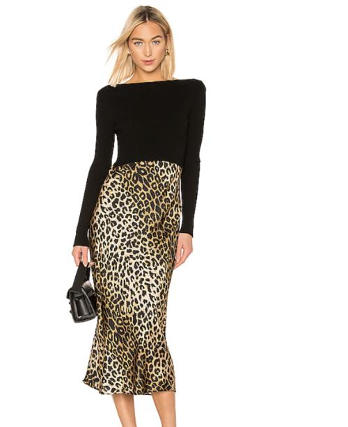 Revolve Leopard Slip Dress
