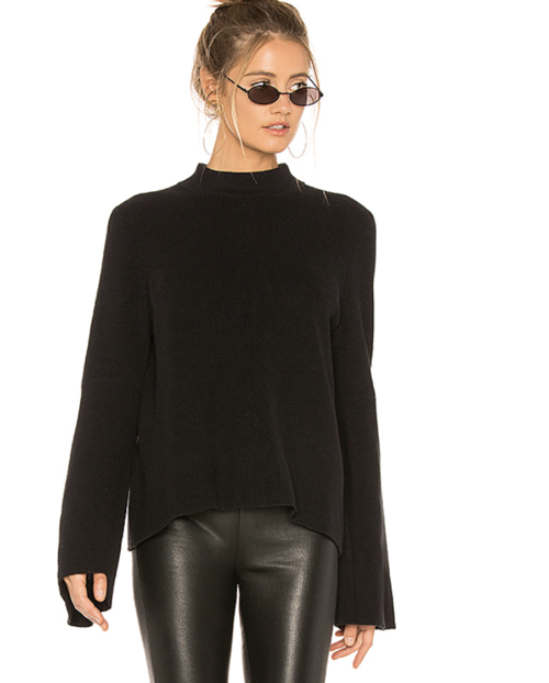 AMERICA BELL SLEEVE PULLOVER IN BLACK