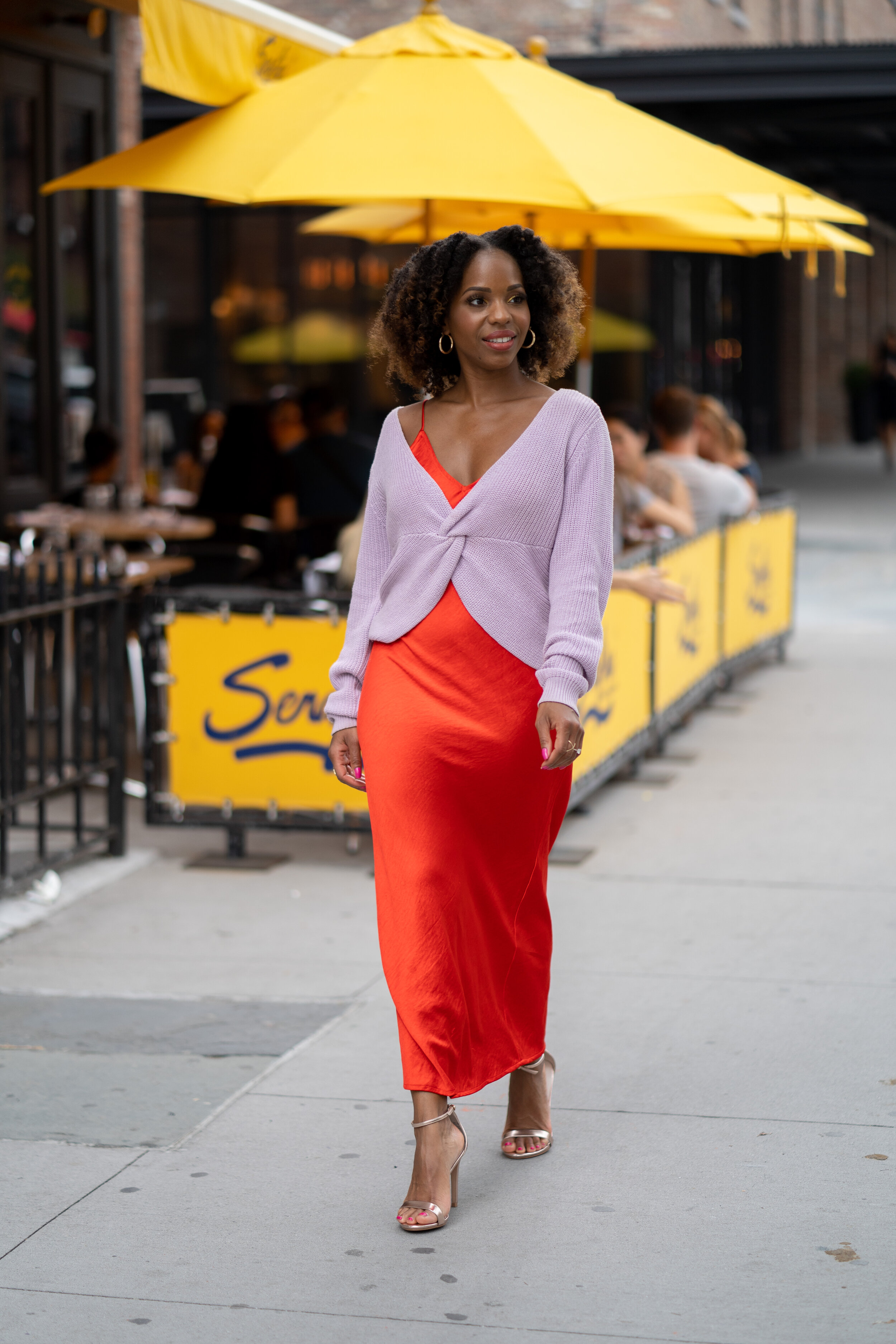 Layered Slip Dress Styling for Fall
