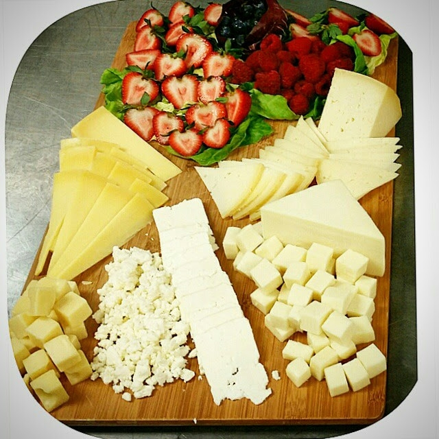 Fresh Fruit & Cheese Display