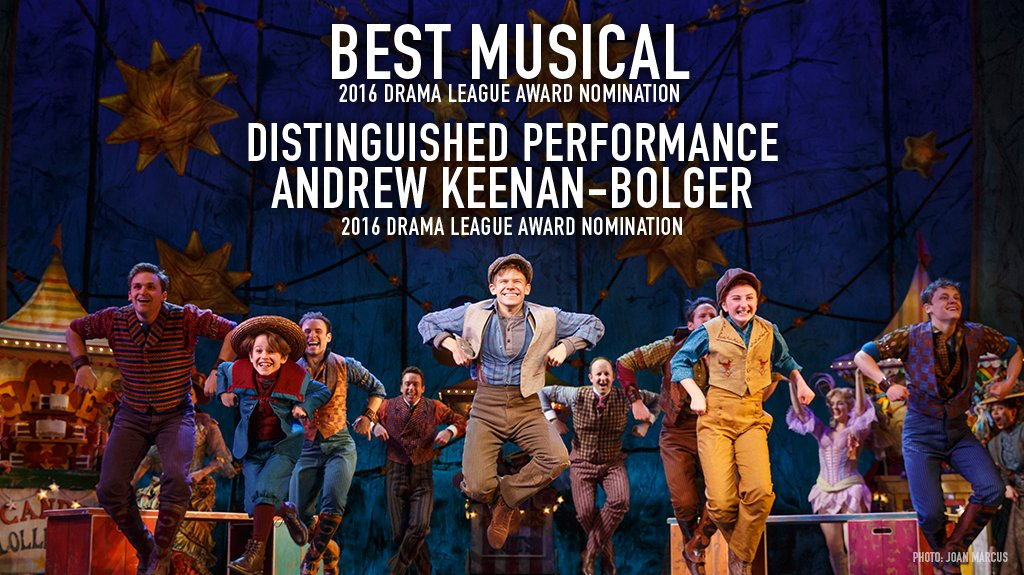 Andrew was nominated for a Distinguished Performance Award for his portrayal of Jesse Tuck in TUCK EVERLASTING