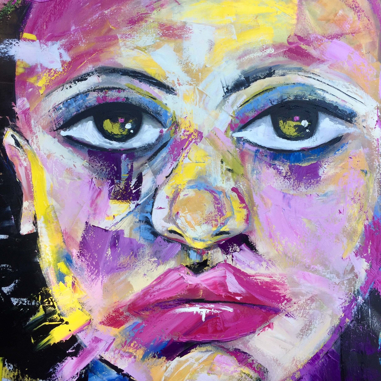 Joy - 36 x 36 Ol Over Acrylic on Canvas