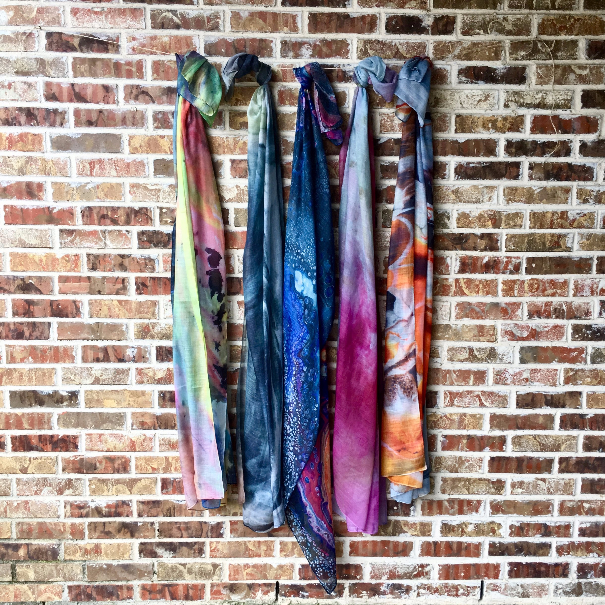 "Art Print Scarves - 48"" x 76"" Cotton Voile Blend"