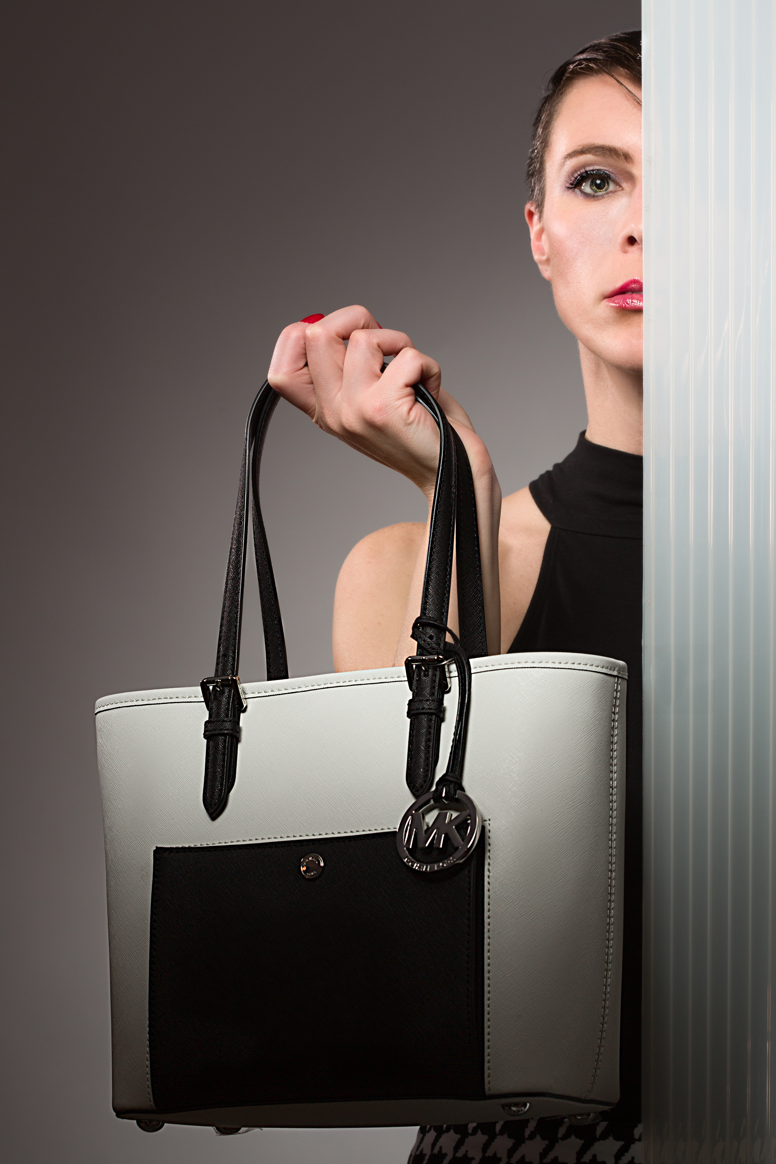 monochrome 01  - Michael Kors - Jet Set Snap Bag
